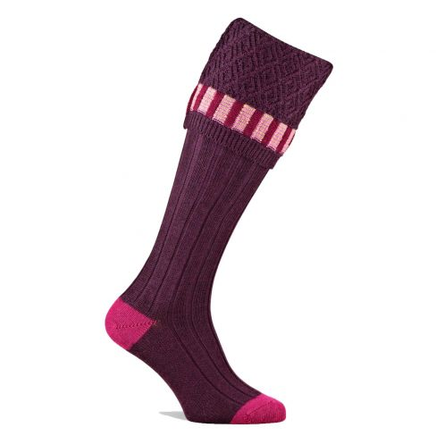 Elvedon Shooting Socks Plum