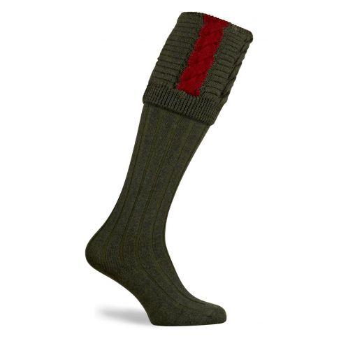 Governor Shooting Socks Hunter/Red