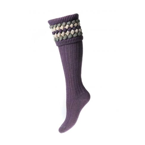 Ladies Lady Angus Shooting Socks - Thistle