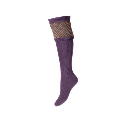 Ladies Tayside Shooting Socks and Garters - Thistle