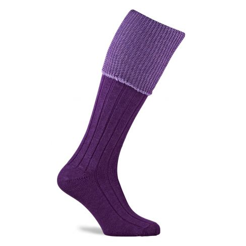 Chiltern Shooting Socks Purple