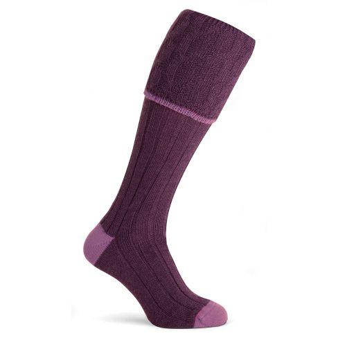 Durham Shooting Socks Plum L 9-11