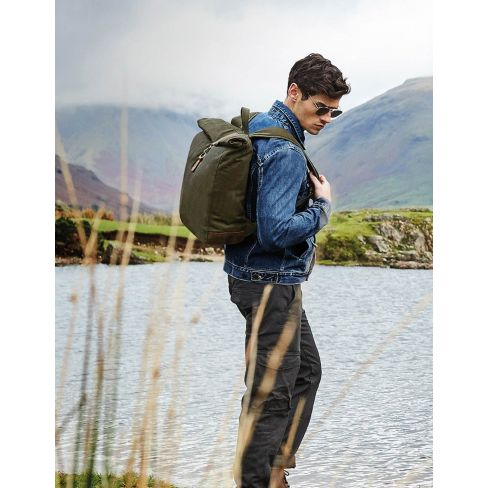 Heritage Waxed Canvas Back Pack - Olive