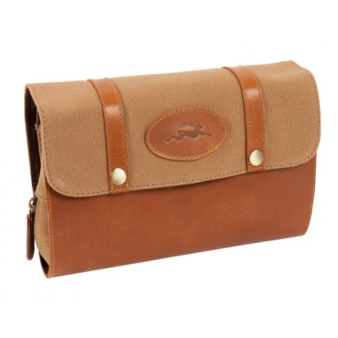 Windsor Leather and Canvas Hanging Washbag