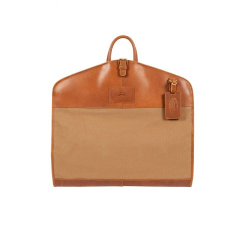 Windsor Leather and Canvas Suit Carrier
