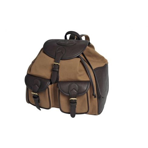 Canvas and Buffalo Leather Back Pack