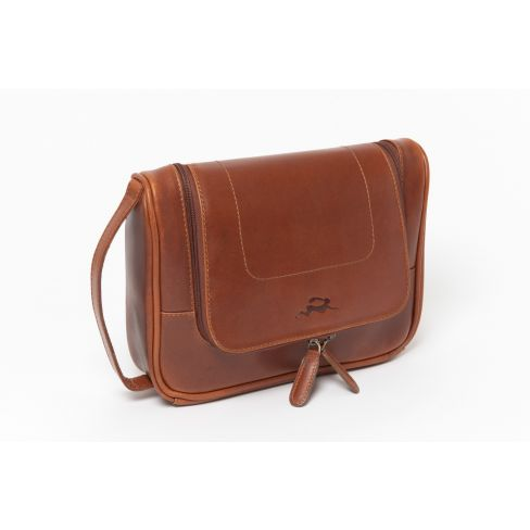All Leather Windsor Hanging Washbag