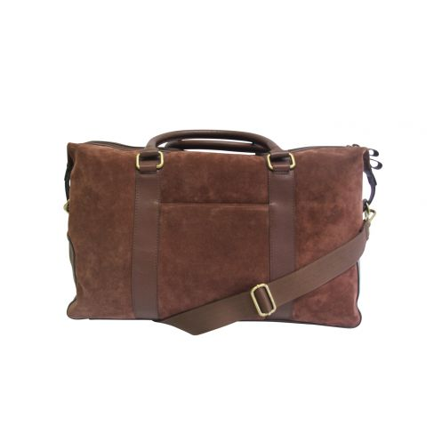 Suede and Leather Holdall Tan