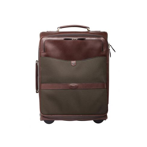 Dubarry Gulliver Carry on Trolley Case Cordura and Leather Olive