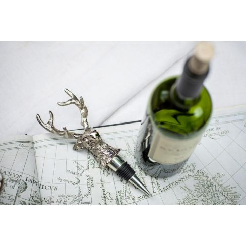 Sporting Bottle Stopper - Stag Head