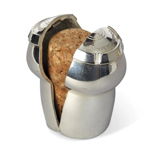 Silver Plated Champagne Cork Keeper