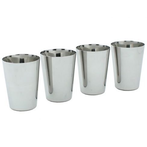 Set of 4 Stainless Steel Cups