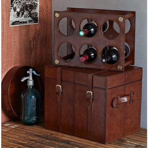 Leather Wine Rack/Trunk