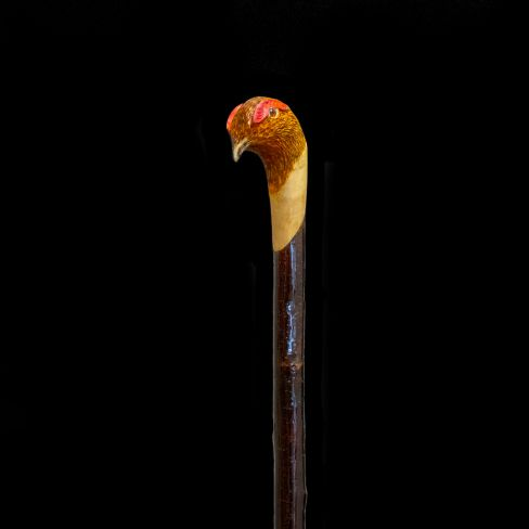 Hand Carved Walking Stick - Grouse