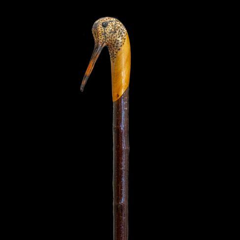 Hand Carved Walking Stick - Snipe