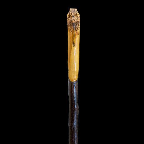 Hand Carved Walking Stick - Snipes