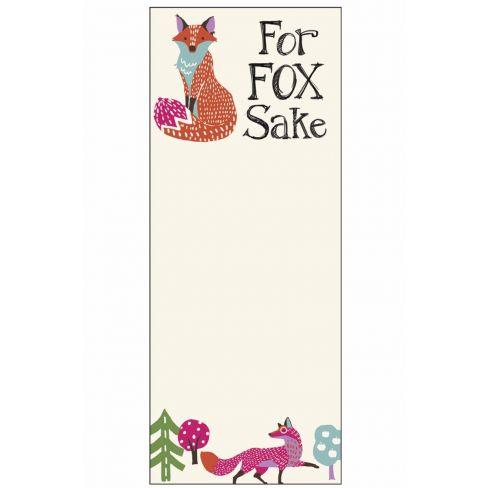 Magnetic Notepad - For Fox Sake