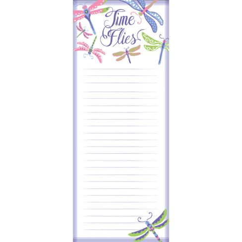Magnetic Notepads Time Flies - Dragon Flies