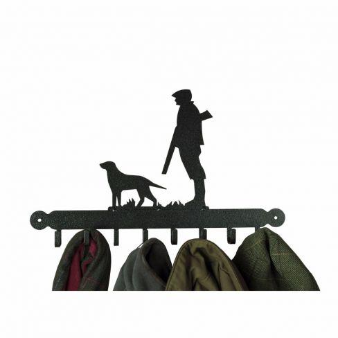 Gun Dog and Man Coat Rack