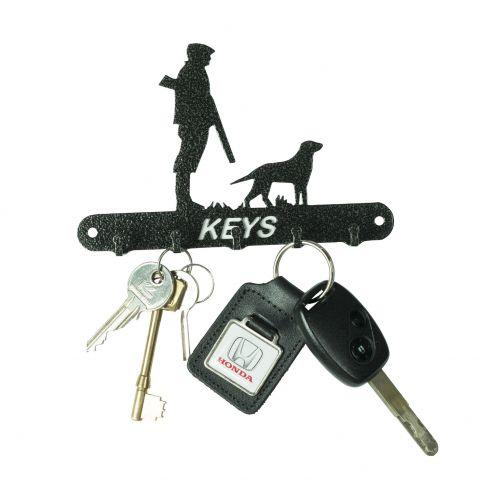 Gun Dog and Man Key Hook