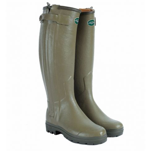 Le Chameau Chasseur Men's Leather Wellington Boots