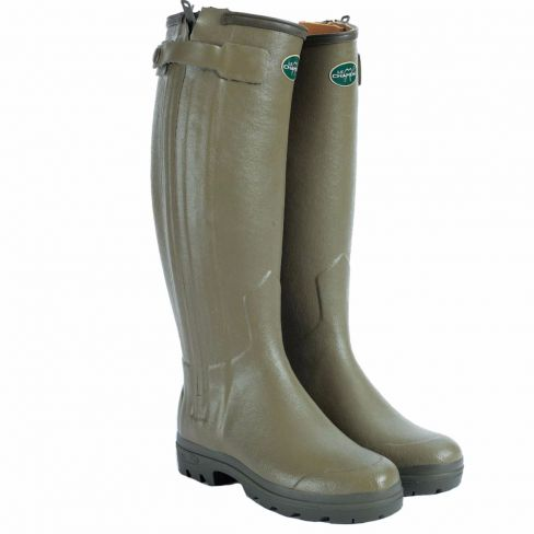 Le Chameau Chasseur Ladies Leather Wellingtons