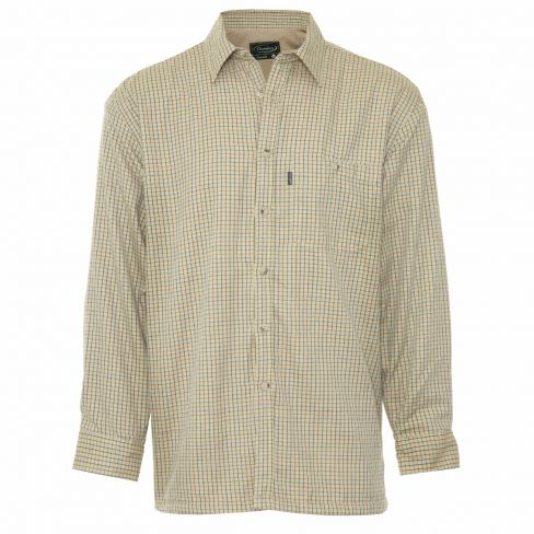Fleece lined Tattersall Shirt - Stone