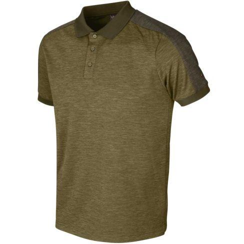 Harkila Tech Polo Shirt - Dark Olive/Willow Green