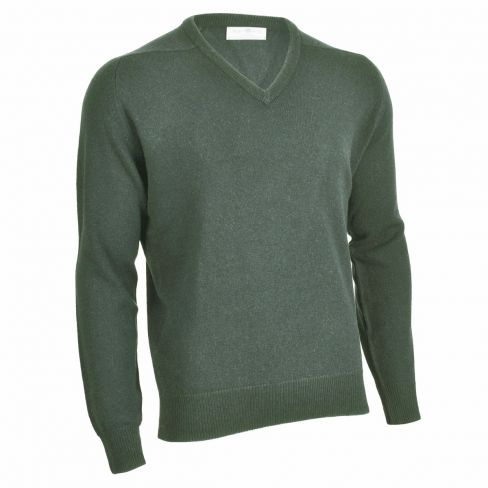 Alan Paine Lambswool V-Neck Sweater