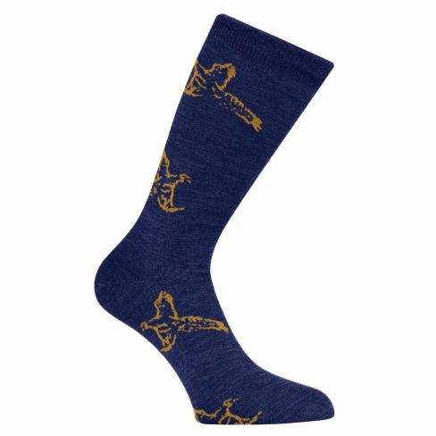 Country Game Dress Socks Pheasant Navy
