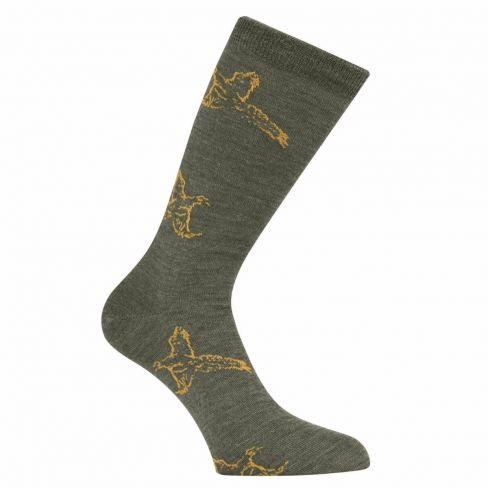 Country Game Dress Socks Pheasant Olive