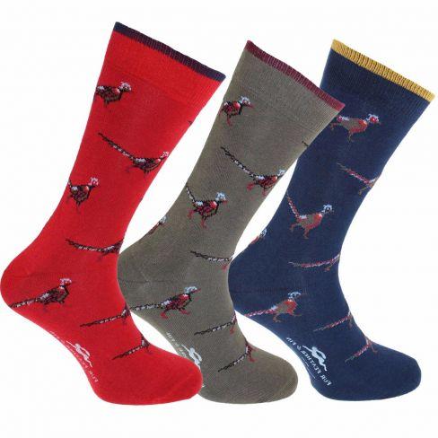 Dress Socks Pheasants (Pack of 3)