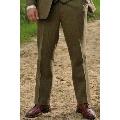 Alan Paine Compton Tweed Trousers - Olive