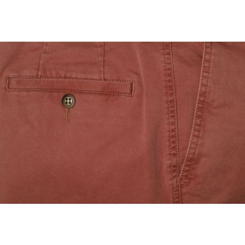 Stretched Cotton Chinos - Russet