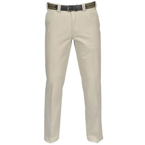 Stretched Cotton Chinos - Stone