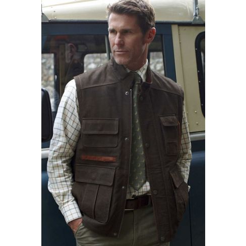 The Hunter Nubuck Leather Gilet
