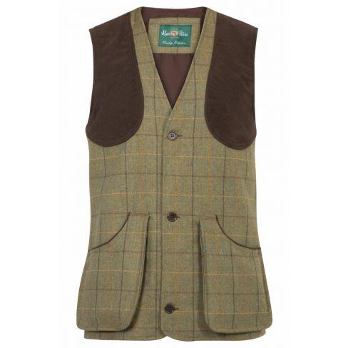 Rutland Tweed Shooting Waistcoat Dark Moss