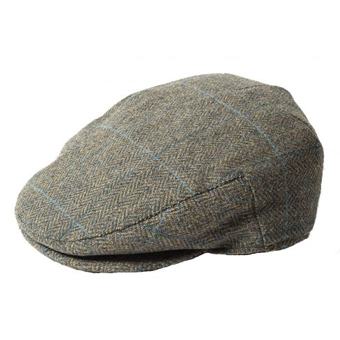 Dalness Waterproof Tweed Cap - Navy