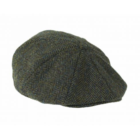 Harris Tweed 8 Piece Cap Dark Green
