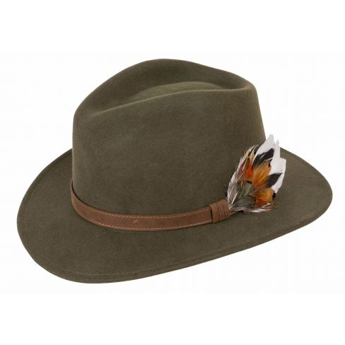 Richmond Unisex Felt Hat Olive