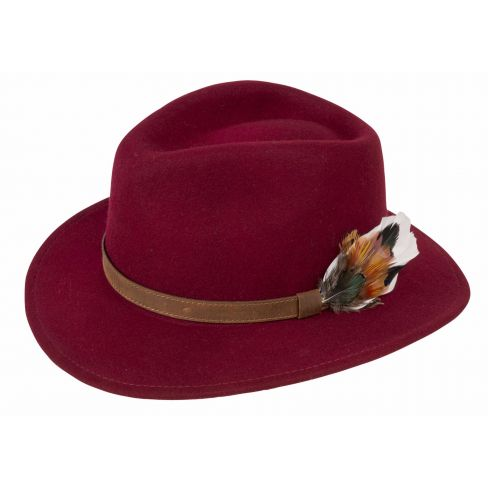 Richmond Unisex Felt Hat Wine