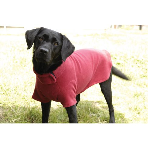 Water Repellent Dog Jumper - Red
