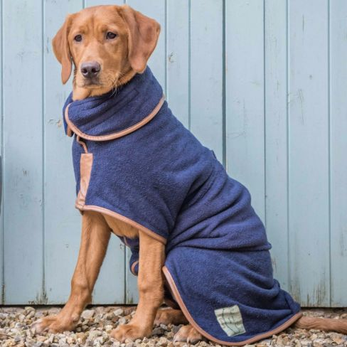 Country Collection Dog Drying Coat Blue