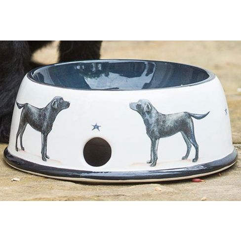 Labrador Pottery Dog Bowl