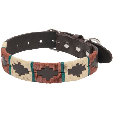 Argentine Leather Dog Collar Rustic Brown