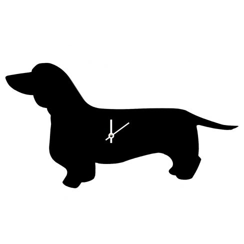 Wagging Tail Clock Dachshund