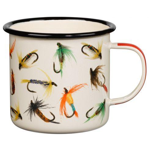 Fishing Flies Enamel Mug