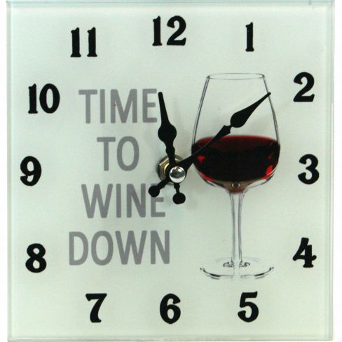 Quirky Clock Time to Wine Down