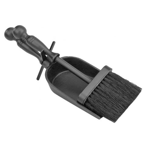 Duchess Black Iron Shovel and Brush Hearth Set