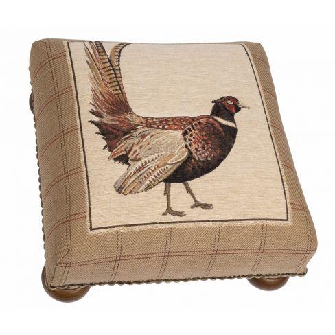 Fantail Pheasant Footstool